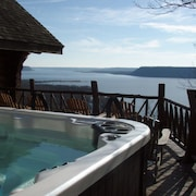 40 Acre Wooded Retreat Overlooking Lake Pepin With Lakefront