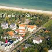 Apartment * Seemöwe * 1A Location Only 150m to the Beach * Barrier-free * Wireless LAN * Pakrplatz