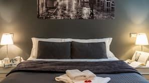 Memory-foam beds, in-room safe, individually furnished, desk