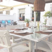 Spacious Quiet Apartment 450 Meters to the Beach, Huge Patio, Communal Pool