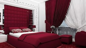 Egyptian cotton sheets, minibar, in-room safe, individually decorated