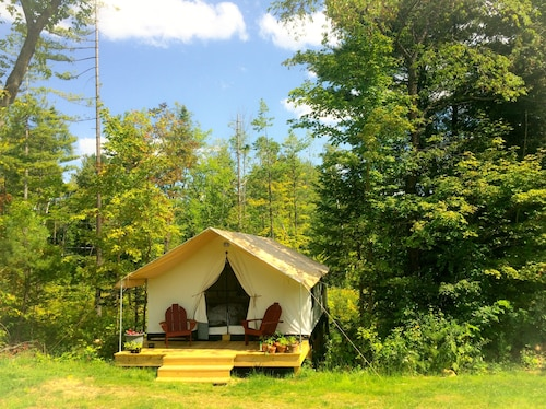 Glamp Suzanne: Canvas Cabin ON Pretty Adirondack Farm Offers Privacy AND Views
