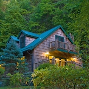 Luxury Secluded Streamside Home Bordered By 8000 Acre Forest