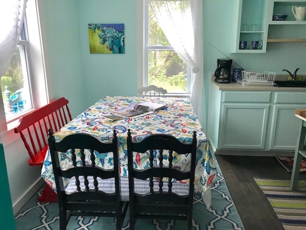 Private Kitchen, Blue Hill, Maine!  Adorable property w/ parking for small boat for town launch.
