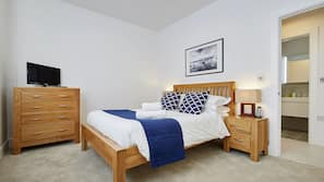 Premium bedding, iron/ironing board, cots/infant beds, free WiFi
