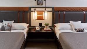 高級寢具、保險箱、免費嬰兒床、免費 Wi-Fi