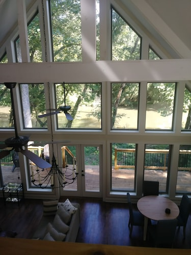 Check Expedia for Availability of New Dahlonega Chalet on the Chestatee River. Very Private and Family Friendly