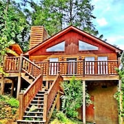 Secluded Comfy Cute Smoky Mountain Cabin Hot Tub Gsmnp!