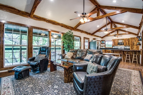Check Expedia for Availability of Bluff Creek Cabin On The Guadalupe River, Perfect For Families Or Large Events