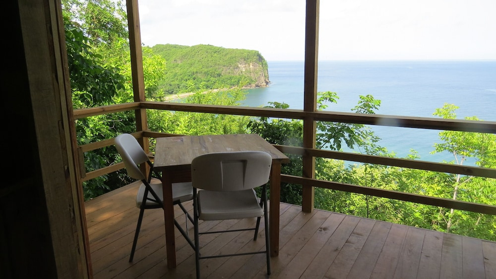 Terrace/Patio, The Treehouse Marigot Bay - Hummingbird Hangout With Spectacular sea Views!