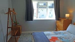 2 bedrooms, premium bedding, memory foam beds, iron/ironing board