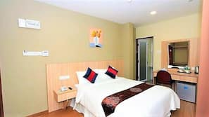 1 ห้องนอน, มินิบาร์ฟรีบางอย่าง, ห้องเก็บเสียง, เตารีด/โต๊ะรีดผ้า