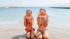 Private beach, beach cabanas, sun loungers, beach umbrellas