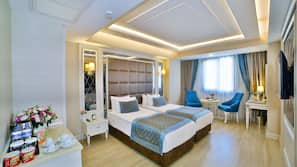 1 chambre, literie de qualité supérieure, surmatelas, minibar