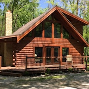 A Remodeled Log Cabin Surrounded By 6000 Acres Of Old Growth Forest