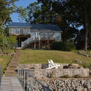 Lakefront Home With Private Dock. Enjoy Gorgeous Views, Wifi, and Easy Access!