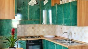Frigorifero, piano cottura, pentole/stoviglie/utensili