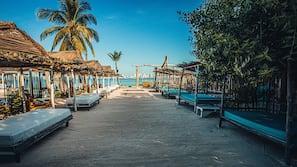 On the beach, beach towels, beach massages, beach yoga