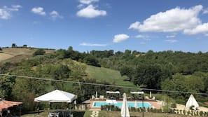 季節性室外泳池、頂樓泳池;泳池傘、躺椅