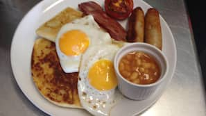 Free daily full breakfast