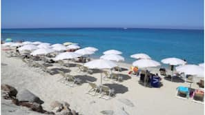 Private beach nearby, sun loungers, beach umbrellas