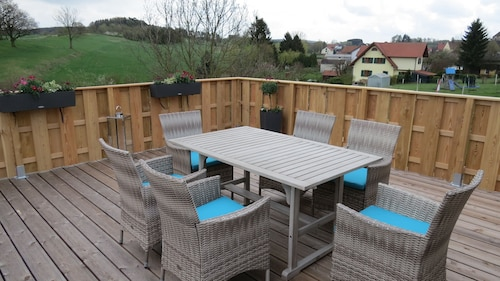 Sun Terrace With Great Views, Relaxation at the Edge of Eggegebirge