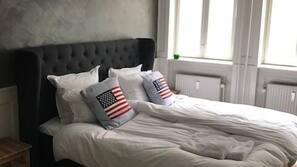 5 soveværelser, premium-sengetøj, skrivebord, strygejern/strygebræt