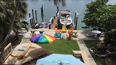 Waterfront Vacation Rental With Private Boat Dock and Beach Access