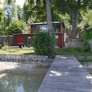 Holiday House at Pilsensee With Direct Lake Access and Footbridge