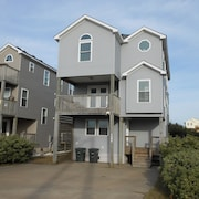 Nags Head Ocean View With Private Pool,hot TUB AND Tiki BAR