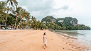 Private beach, sun-loungers, beach umbrellas, beach massages