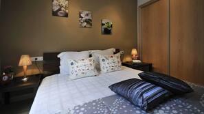 2 sovrum, barnsängar och gratis wi-fi