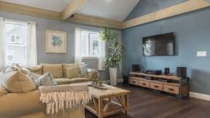 Flat-screen TV, stereo