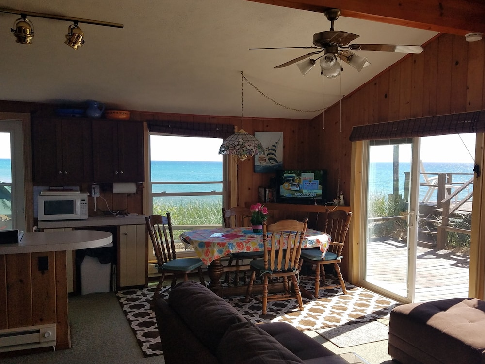 Living Room, Lake Michigan Beachfront! Private Beachfront!