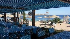 Beach nearby, sun-loungers, beach umbrellas, beach towels