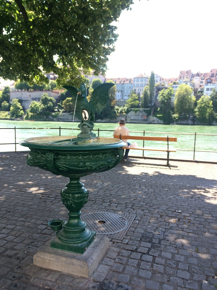 Fountain, In Swiss Home Rhine Riverside