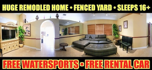Huge 5 Private Gated Sleeps 21+ Free Rental Car! Just 5-mi to Super Bowl Liv!