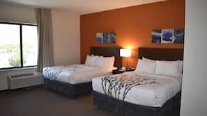 1 slaapkamer, pillowtop-bedden, een kluis op de kamer