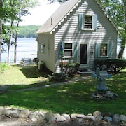 3 BR Waterfront Cottage Quiet Lake Steps From Dock, Beach, and Swim Raft