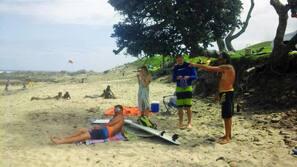 Surf, kayak, pêche sur place