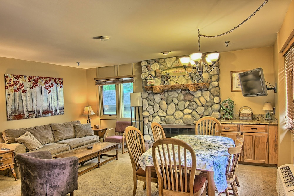 Living Room, Recently Remodeled Condo - Just Behind Boyneland Lift - Walk to Skiing