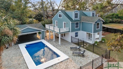 Great Place to stay Gorgeous Home 6 CAR Onsite Parking, Private Salt Pool, Security System Midtown near Savannah