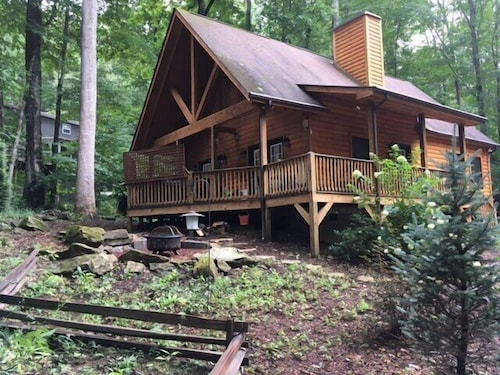 Check Expedia for Availability of 2 Bedroom 2 Bath Cabin W/loft, Hot Tub, Easy Paved Access, Nearby Stream Wifi