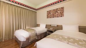 1 間臥室、高級寢具、保險箱、書桌