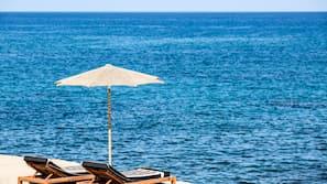 On the beach, beach towels, beach massages