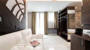 Down comforters, memory foam beds, minibar, in-room safe
