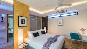 5 間臥室、設計自成一格、家具佈置各有特色、書桌