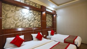 In-room safe, blackout curtains, soundproofing, iron/ironing board