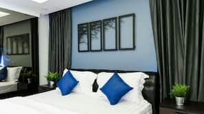 มินิบาร์, ตู้นิรภัยในห้องพัก, Wi-Fi ฟรี, ผ้าปูที่นอน