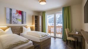 Hypo-allergenic bedding, blackout curtains, rollaway beds, free WiFi
